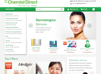 Chemist Direct conversion rates soar with search technology