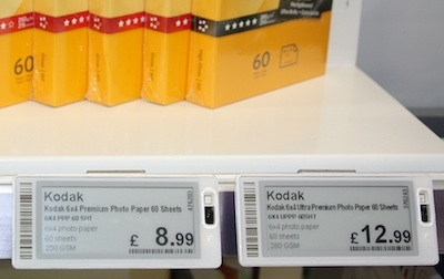 Dixons deploys electronic shelf labels