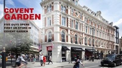 Five Guys UK launch specs instore sounds