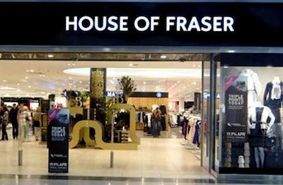 House of Fraser queues up new tech