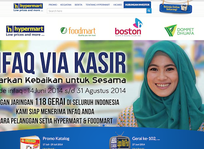 Mobile coupons for Indonesia's Hypermart