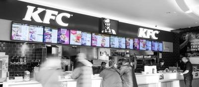 KFC finds internal use for digital screens