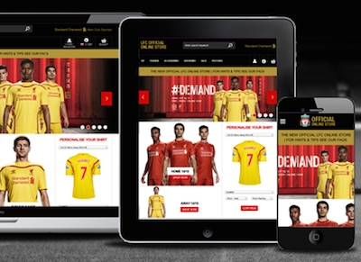 Liverpool FC launches new e-commerce website