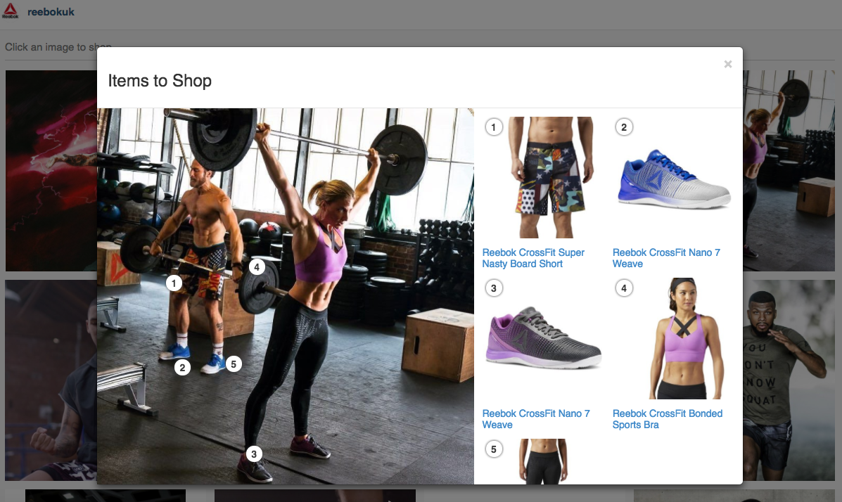 Reebok launches shoppable social