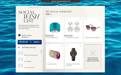 Swarovski unveils 'wish list' for social channels
