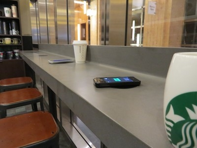 Wireless charging now available at Starbucks