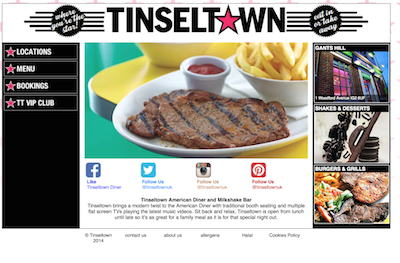 Tinseltown Diners sets the mood