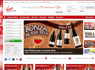 Managed IT support services for online retailer Virgin Wines